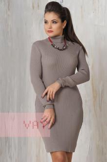 Платье женское 2235 Фемина (Светло-коричневый)